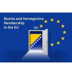 European union flag wall with bosnia and vector