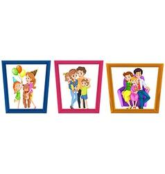 Family photos vector image