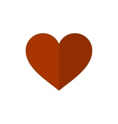 Flat Style Heart Icon on White Background vector image