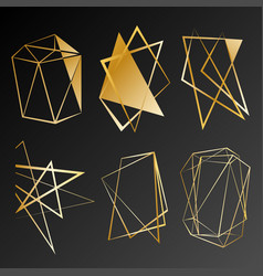 gold gradient shapes for banner flyer poster vector image