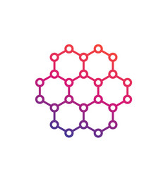 Graphene carbon structure vector