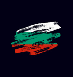 grunge textured bulgarian flag vector image