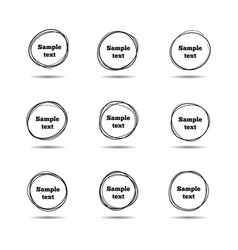 Hand drawn scribble circles round sketch line vector