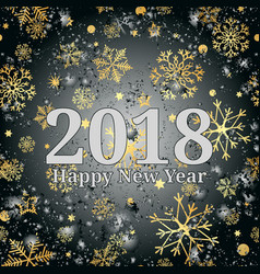 happy new year 2018 text design greeting with vector image