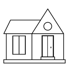 Home building icon outline style vector