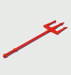 isometric trident devil vector image