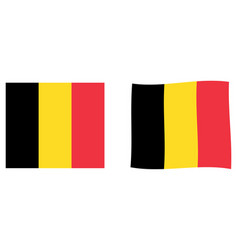 kingdom of belgium flag simple and slightly vector image