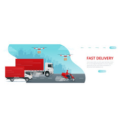 Logistics and fast delivery of package service vector