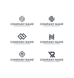 logo bundle inspiration vector image