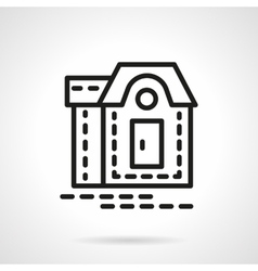 Mansion black line icon vector image
