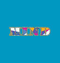 Mind concept word art vector
