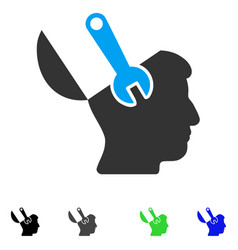 Mind wrench surgery flat icon vector