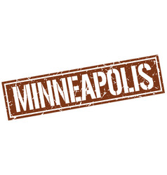 Minneapolis brown square stamp vector
