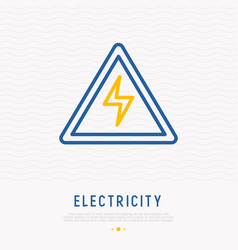 modern warning sign danger electricity vector image