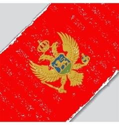 Montenegro grunge flag vector image