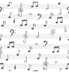 Music seamless pattern background Hand drawn music vector image