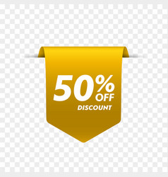 offer tag discount label vector image