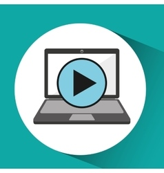 Online store shopping video player graphic vector