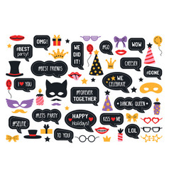 party photo booth props photobooth set vector image
