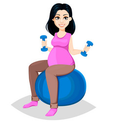 pregnant woman beautiful lady vector image