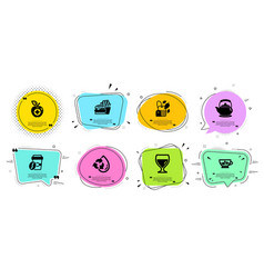 Recycle water mint bag and burger icons set vector
