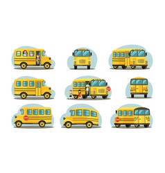 school bus in various forms passenger yellow car vector image