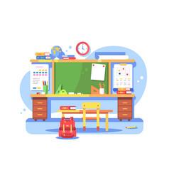 schools classroom modern interior vector image