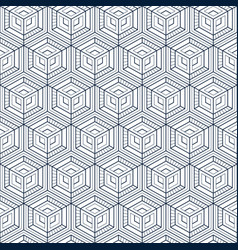 Seamless cubes techno pattern background vector