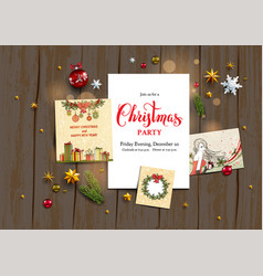 seasonal holiday template vector image