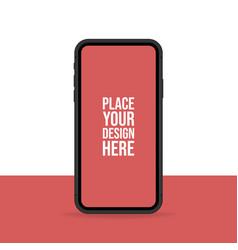 smartphone mock up banner flat blank vector image