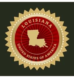 Star label Louisiana vector image