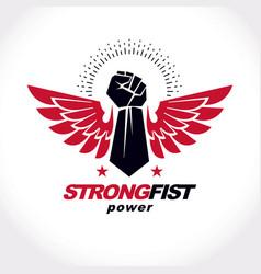 Strong fist a muscular man best fighter vector