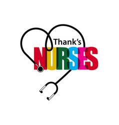 Thanks nurses template design vector