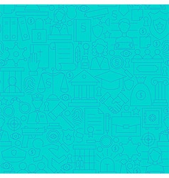 Thin Line Blue Law and Justice Seamless Pattern vector