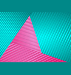 Turquoise and pink abstract corporate striped vector