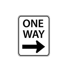 usa traffic road signs traffic flow vector image