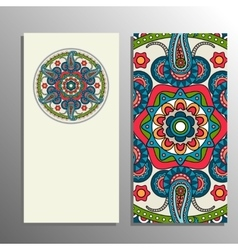 Vertical banner mandala ornament vector