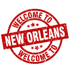 welcome to new orleans red stamp vector image