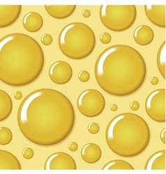 Yellow round bubble seamless pattern vector image
