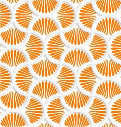 3D orange ray striped pin will grid vector image vector image
