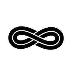 Black infinity knot logo vector image