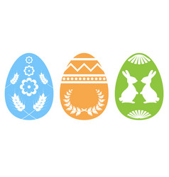 easter egg silhouette vector image vector image