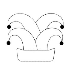 funny harlequin hat icon vector image