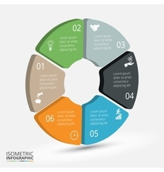 isometric circle element for infographic vector image vector image