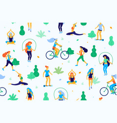 people in the park flat women vector image vector image
