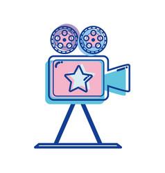 Short film lights video camera studio vector