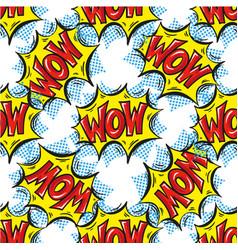 wow word multicolored comics speech bubbles vector image vector image