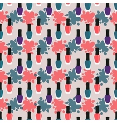 Nail lacquer or nail polish seamless pattern vector image vector image