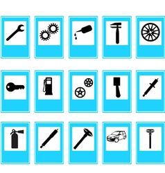 auto car repair service icons vector image vector image