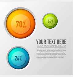 Circle poll icons background vector